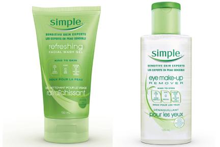 Produits faciaux pour la peau sensible